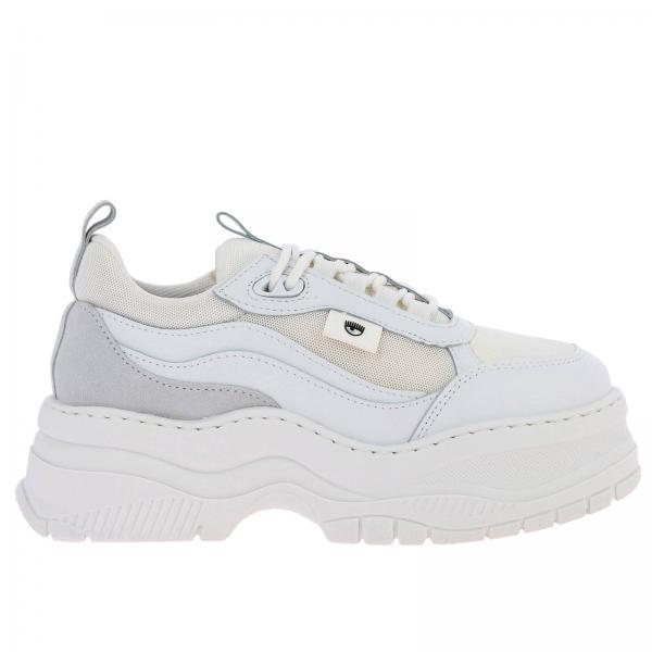 Sneakers Army Chiara Ferragni running in pelle e rete con maxi suola