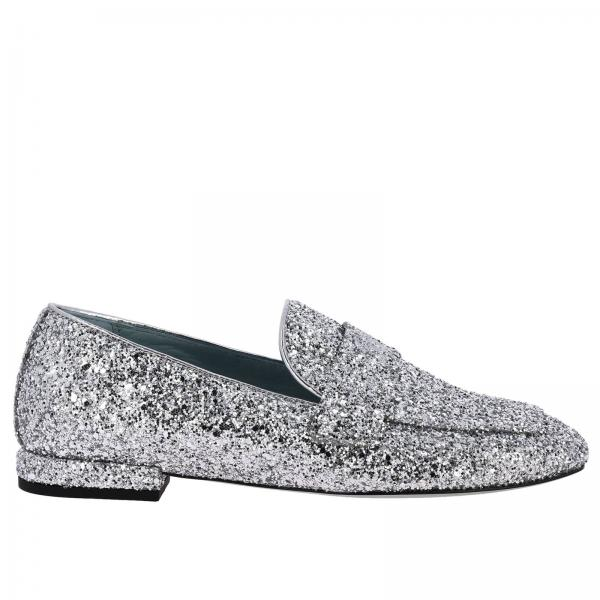 Chiara Ferragni Flirting 眼镜刺绣亮片乐福鞋