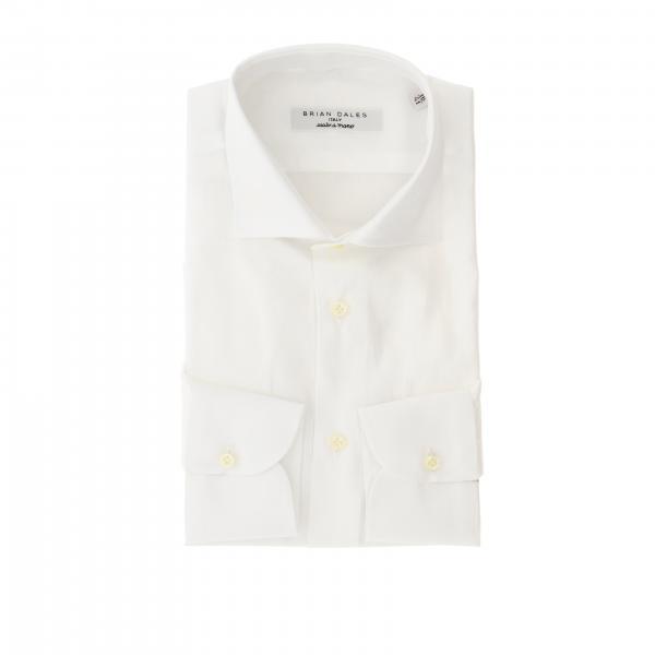Camicia Brian Dales Camicie con collo italiano in twill slim