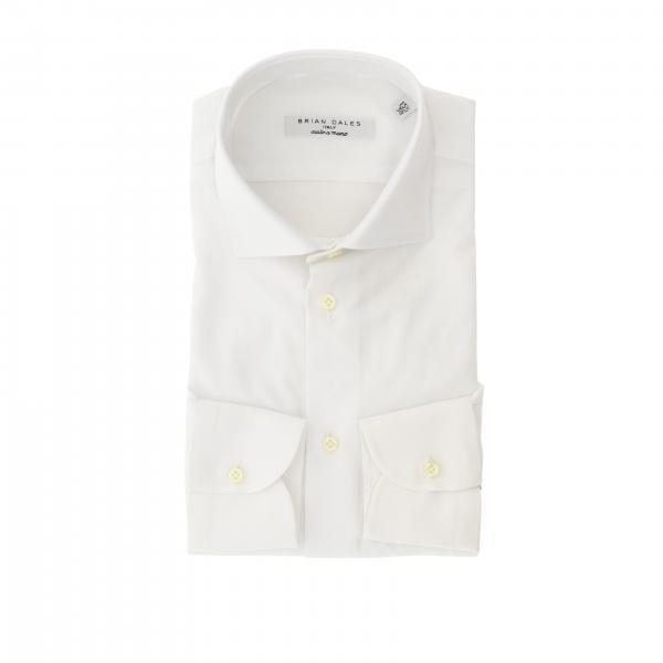 Camicia Brian Dales Camicie con collo italiano in cotone operato slim