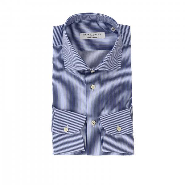 Camicia Brian Dales Camicie con collo italiano in cotone bacchettato slim