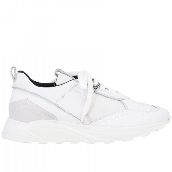 Sneakers pelle, camoscio e rete