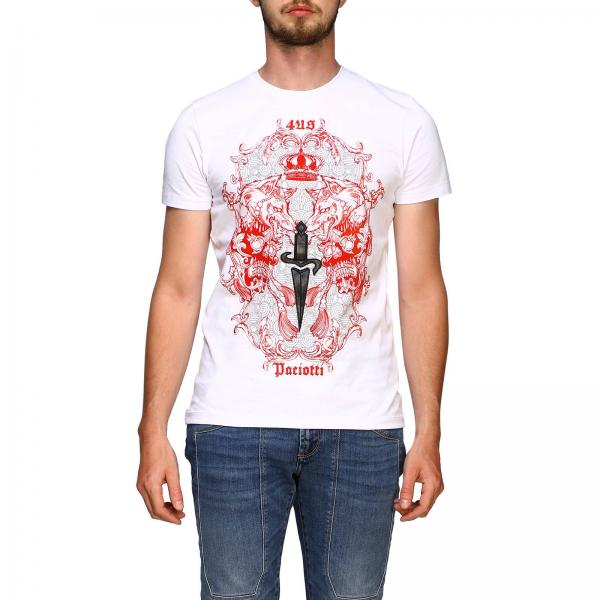 Paciotti 4us 龙和logo印花T恤