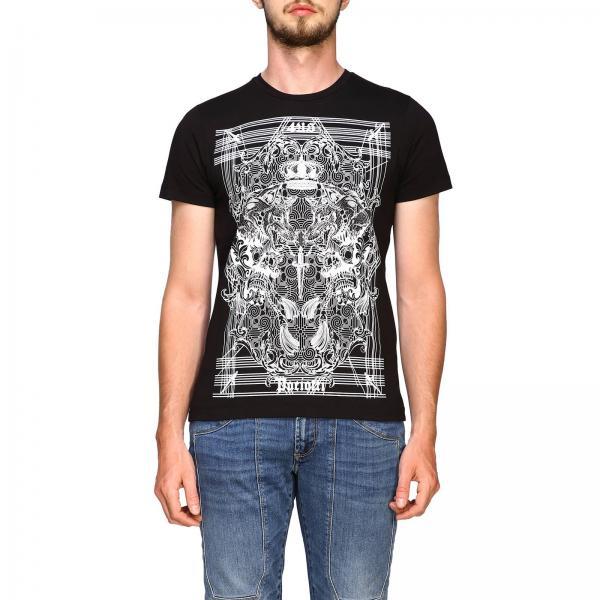 Paciotti 4us 骷髅和logo印花T恤