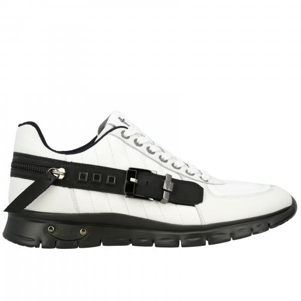 Carve Paciotti 4US Sneakers aus Leder mit Schnalle