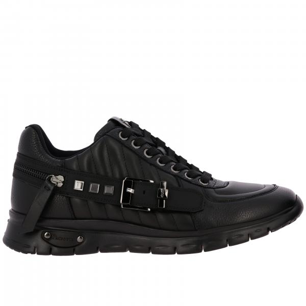 Carve Paciotti 4US sneakers in leather with buckle