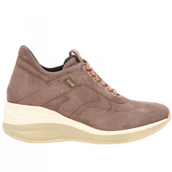 Sneakers Candy Paciotti 4US con zeppa in camoscio