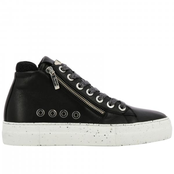 Ramones Paciotti 4US sneakers in leather with macro zip and logo