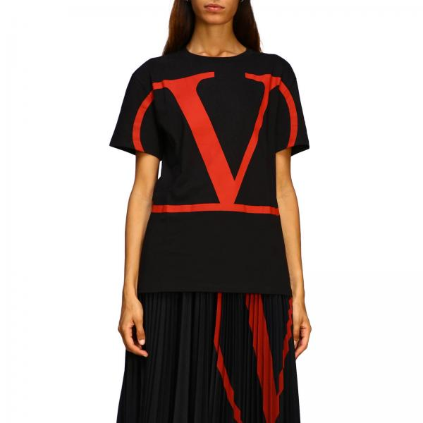 Valentino Short Sleeved T Shirt With Vlogo Print by Valentino