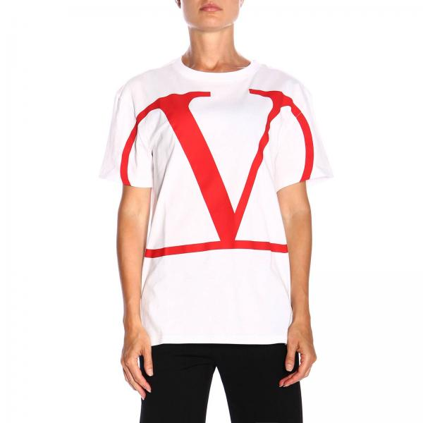 Valentino short-sleeved T-shirt with VLogo print