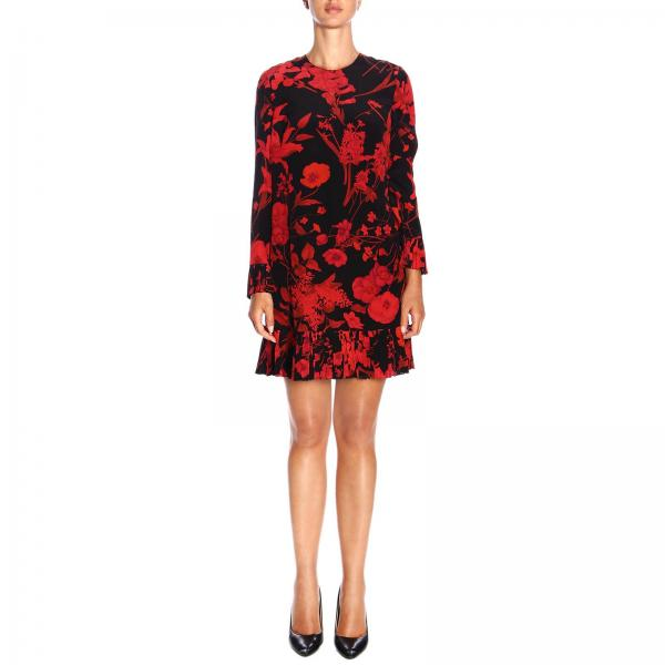 Valentino silk dress with floral pattern