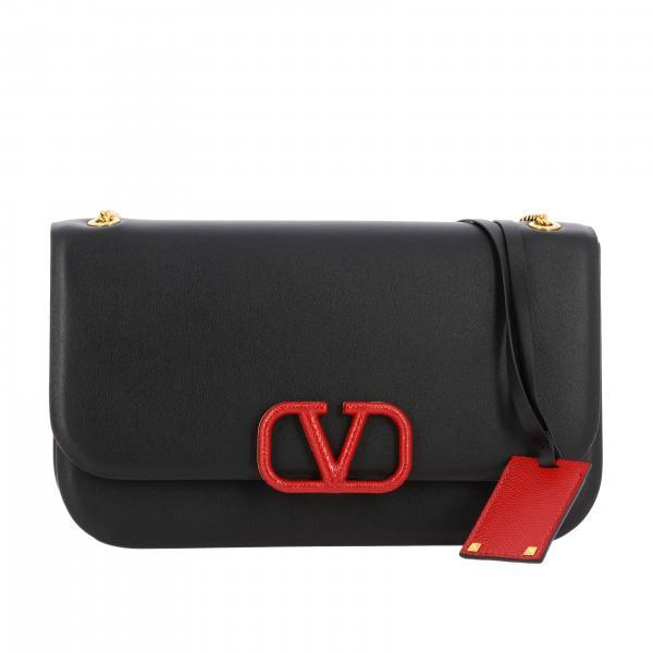 Valentino Garavani VLogo 真皮中号手袋