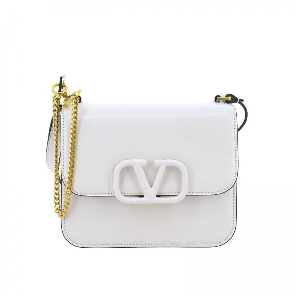 Valentino Garavani VLogo leather shoulder bag with maxi V monogram