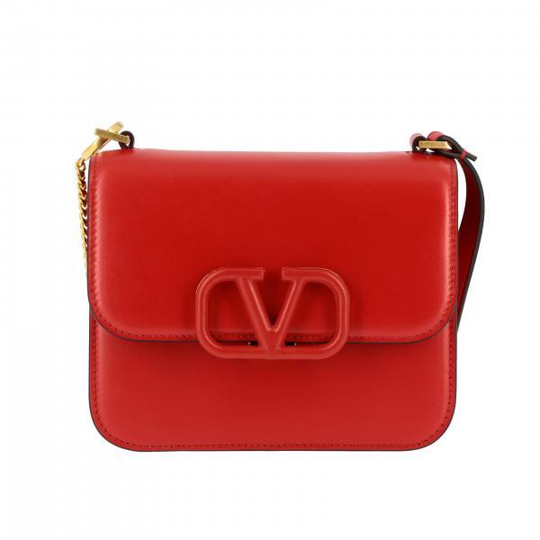 Valentino Garavani VLogo shoulder bag in leather with maxi V monogram