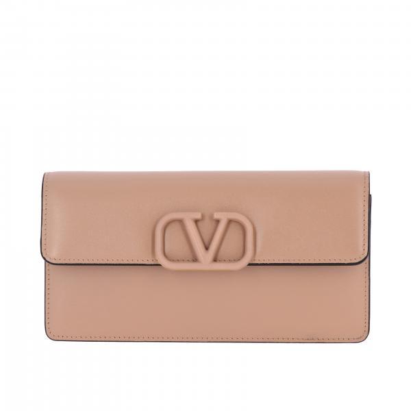 Valentino Garavani small smooth leather bag with VLogo