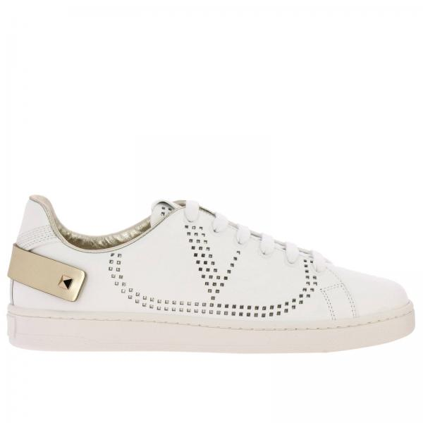 Valentino Garavani Backnet sneakers in leather with micro perforated logo