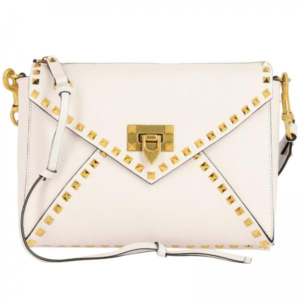 Valentino Garavani Medium Rockstud grained leather bag
