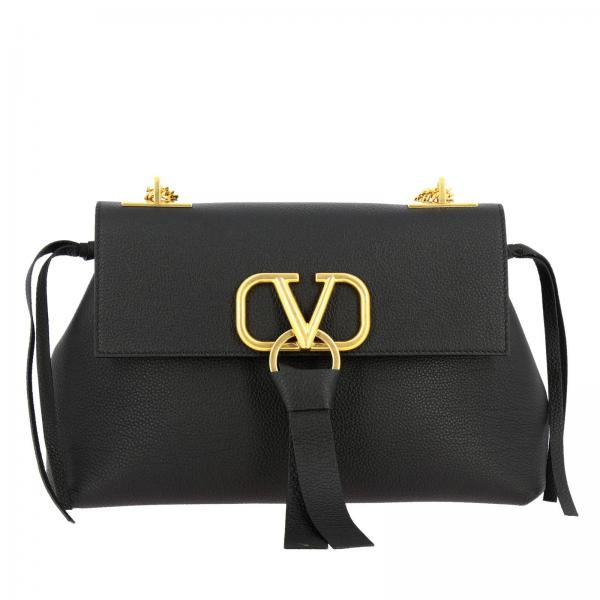 Valentino Garavani VLogo leather bag with maxi V monogram