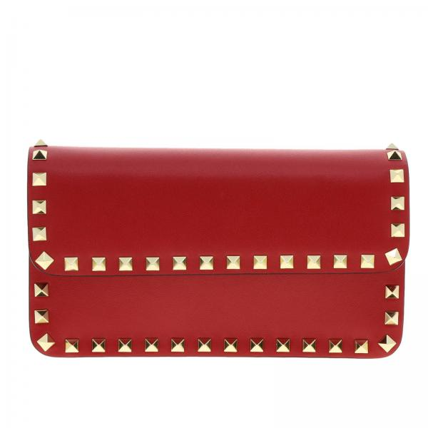 Valentino Garavani Rockstud Spike leather bag with a thin shoulder strap