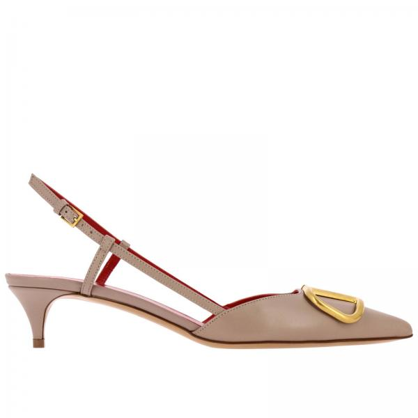Valentino Garavani leather Sling back with VLogo