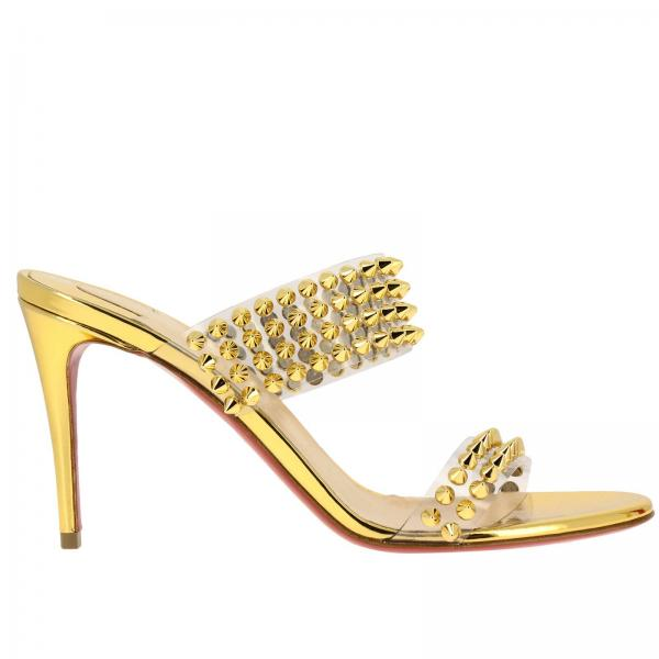 sports shoes 2ab29 55171 Spikes only christian louboutin sandals in pvc with metal studs