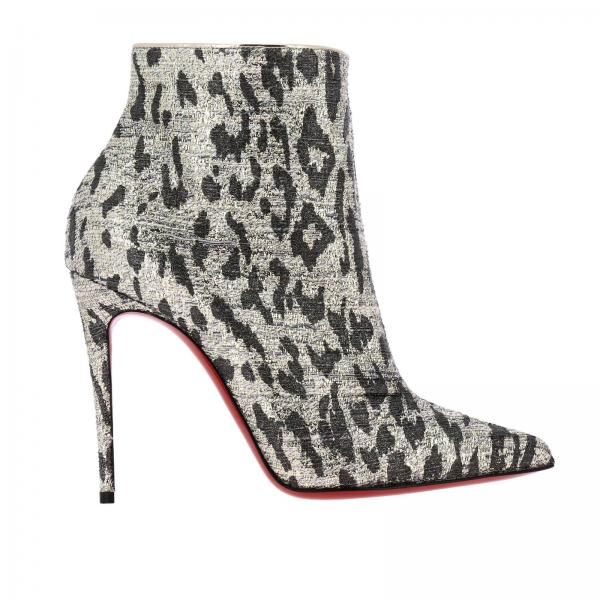 So kate Christian Louboutin boots in spotted lurex fabric