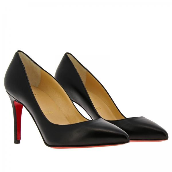 Donna Christian 3160522 In Louboutin Shiny NeroPigalle Nappa Décolleté OvPyNnwm80