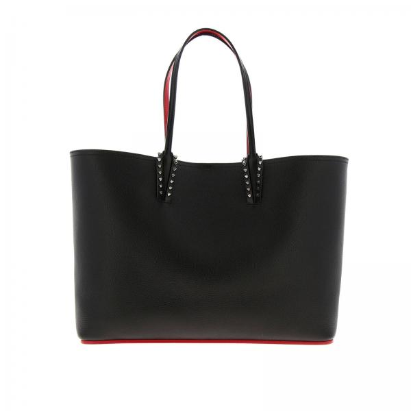 Borsa Cabata shopping large Empire Paris Christian Louboutin in pelle martellata con borchie metalliche