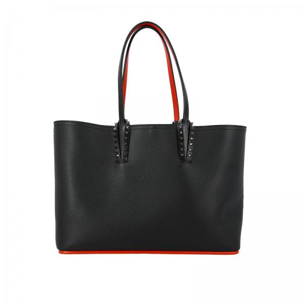 Borsa Cabata shopping small Empire Paris Christian Louboutin in pelle martellata con borchie metalliche