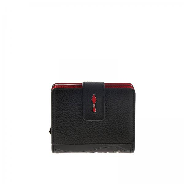Paloma mini continental wallet Christian Louboutin in hammered and textured leather