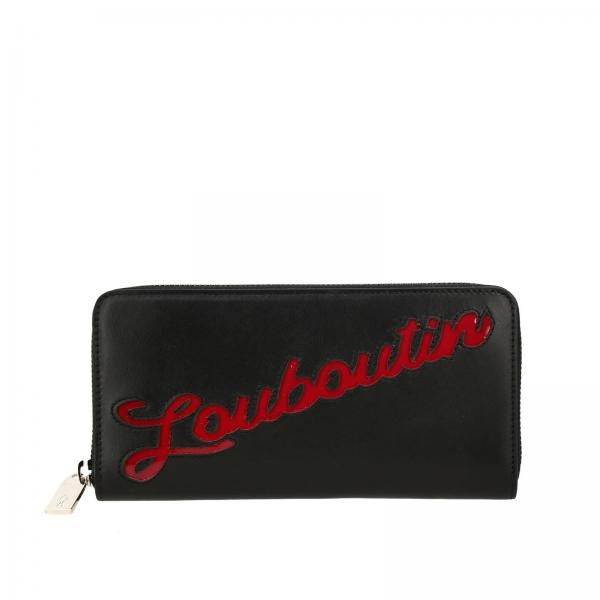 Christian Louboutin Panettone wallet in smooth leather with patent leather logo