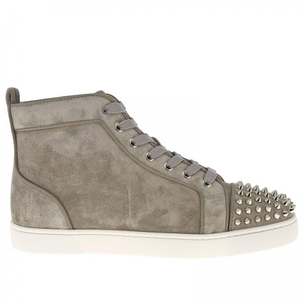 sale retailer f4645 11ca9 Lou spikes christian louboutin sneakers in suede with studded toe
