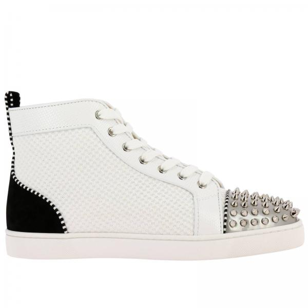 huge selection of 13884 4b6f7 Ac louis junior spikes christian louboutin sneakers in leather and mesh  with studded toe