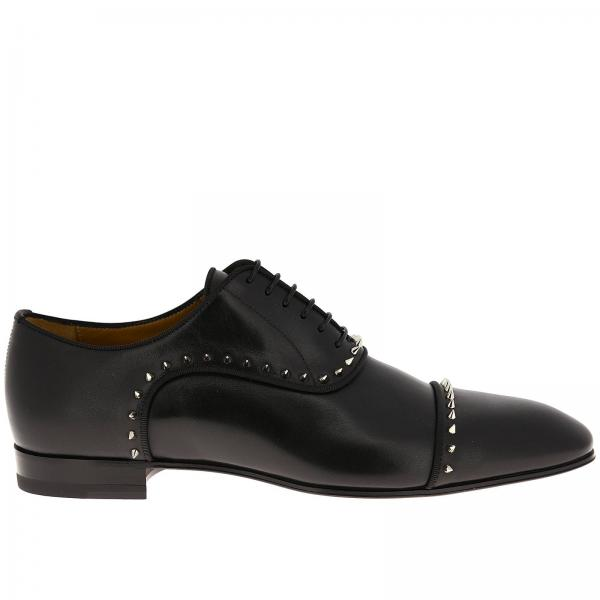 Eton Flat Christian Louboutin smooth leather brogues with studs