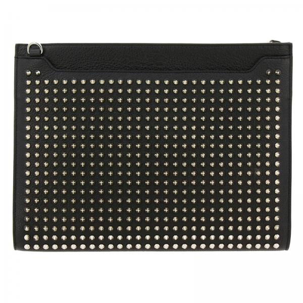 Sky Christian Louboutin clutch bag in leather with studs