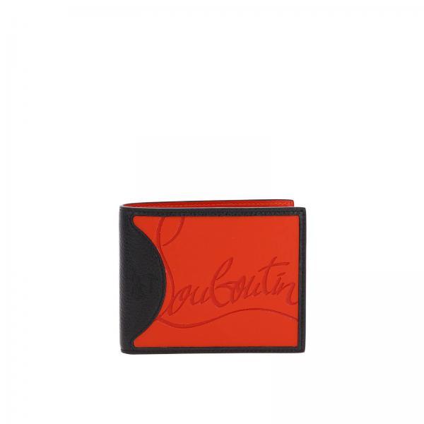 Christian Louboutin捶打皮橡胶Coolcard钱包