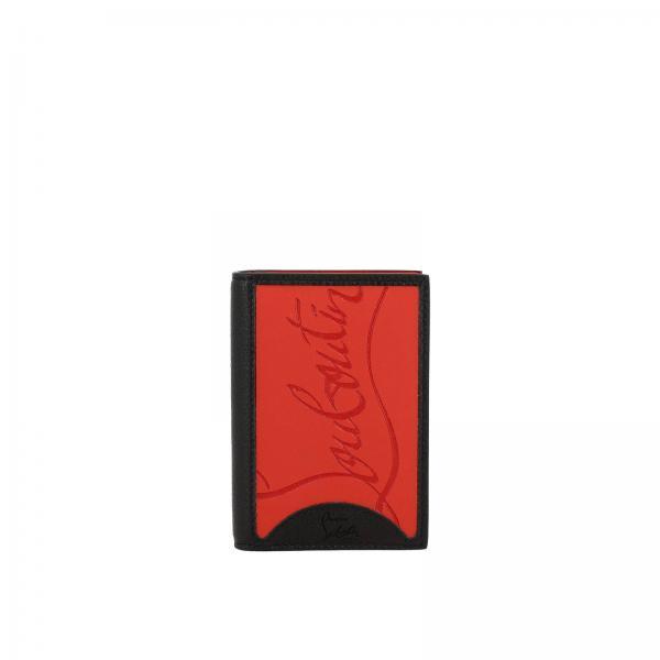 Christian Louboutin捶打皮橡胶Sifnos卡包