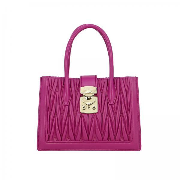 Miu Miu small shopping bag in matelassé leather