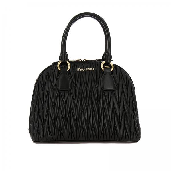 Miu Miu Boowling bag in matelassé leather with shoulder strap