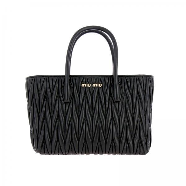 Miu Borsa Con Logo N88 A Spalla Donna Bag In 5bg163ooo Pelle Matelassé NeroShopping n0OP8kZXwN