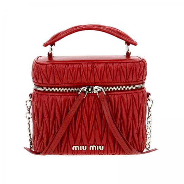 Borsa Camera bag ovale Miu Miu in pelle matelassé
