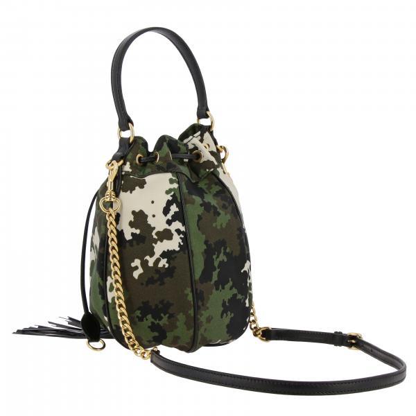 MilitareSecchiello Borsa In Donna Con 2d4k A 5be039ooo Camouflage Pelle Mano E Tela Miu Frange CBodxe