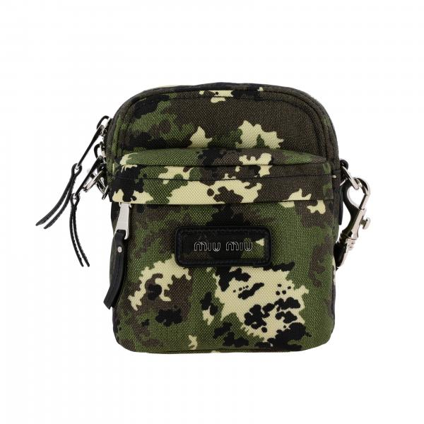 Miu Miu bag in camouflage printed fabric