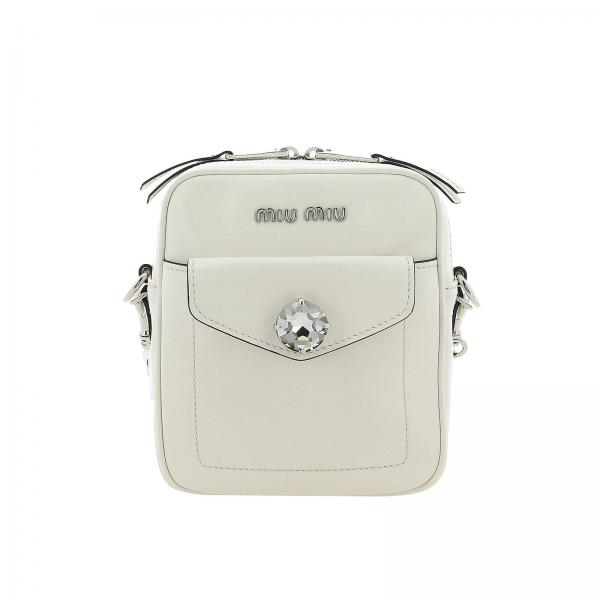 Miu Miu bag in leather with maxi rhinestones