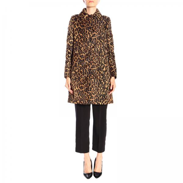 Cappotto Miu Miu medio in nylon animalier