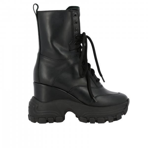 Miu Miu 110 军靴鞋底真皮高跟短靴