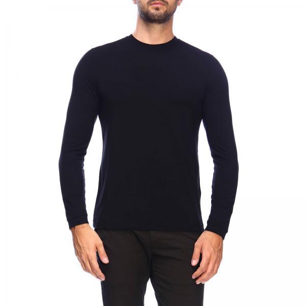 T-shirt Giorgio Armani a girocollo in jersey di viscosa stretch basic
