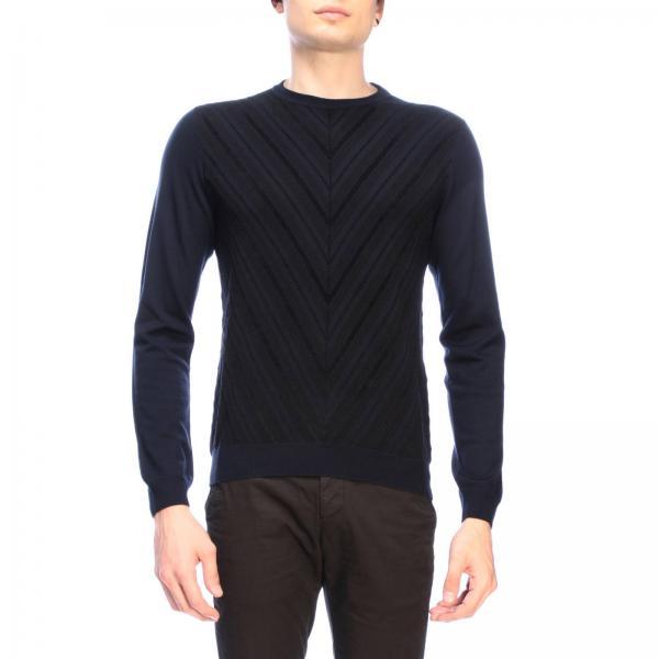 Giorgio Armani pullover in flocked jacquard