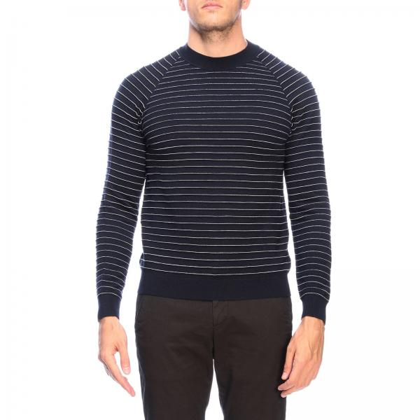 Pullover Giorgio Armani in jacquard a righe