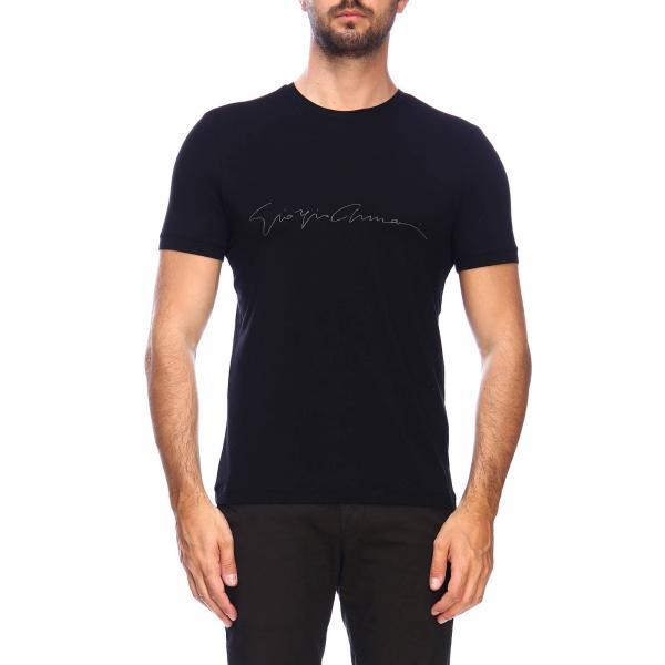 Giorgio Armani T-Shirt mit Rundhalsausschnitt aus Basic-Stretch-Viskose-Jersey